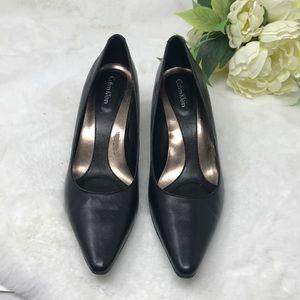 Calvin Klein Black Pump Kitten Heels, 7